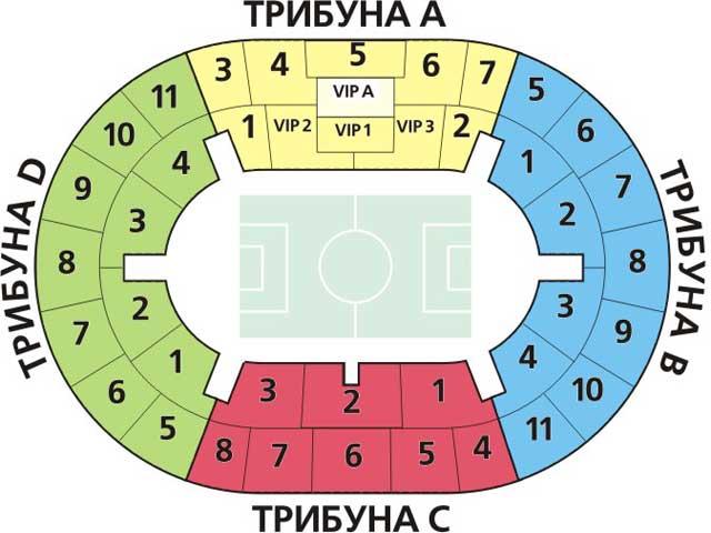 Схема стадиона Лужники